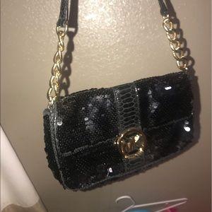 Michael Kors Bags - Authentic Michael Kors sequin/snakeprint purse
